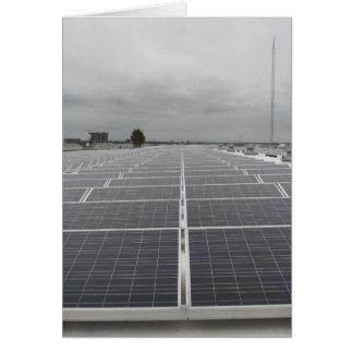 Solar Panel Field Greeting Card