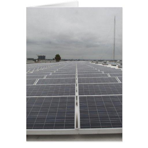 Solar Panel Field Greeting Cards
