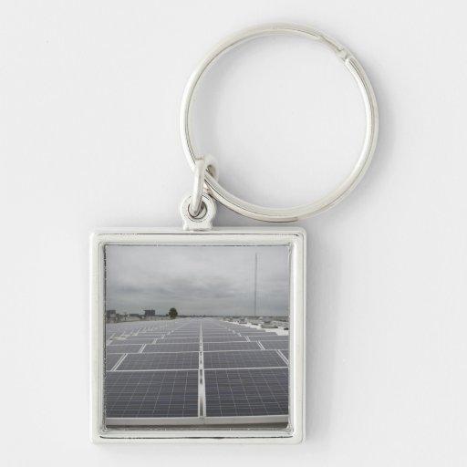 Solar Panel Field Key Chain