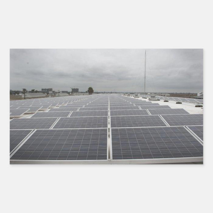Solar Panel Field Rectangular Sticker
