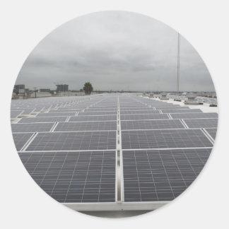 Solar Panel Field Round Sticker