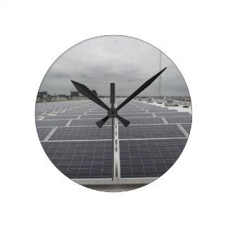 Solar Panel Field Wallclocks