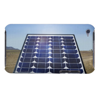 Solar panel in arid landscape iPod touch case