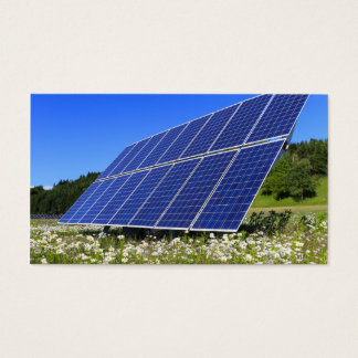 Solar Panels and green meadow Business Card