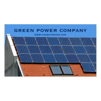 solar panels - green energy pack of standard business cards