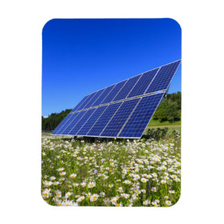 Solar Panels with rural landscape Rectangular Photo Magnet