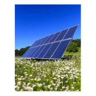 Solar Panels with rural landscape Postcard