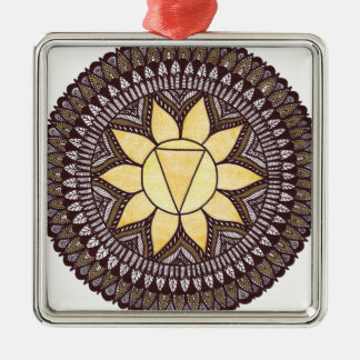 Solar Plexus Chakra Mandala Christmas Ornament