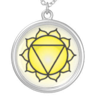 Solar Plexus Chakra Sterling Silver Plate Necklace