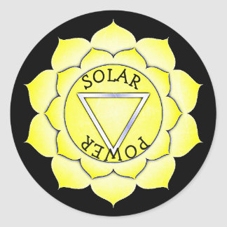 Solar Plexus Yellow Power Chi Chakra Stickers