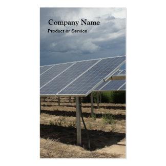 Solar power business card