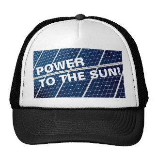 Solar power cap