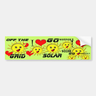 Solar Power Gifts and Promotional Products T-shirt Bumper Sticker