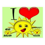Solar Power Gifts and Promotional Products T-shirt Postcards