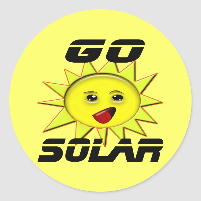 Solar Power Gifts and Promotional Products T-shirt Round Sticker