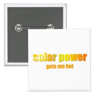 Solar Power Hot! 15 Cm Square Badge