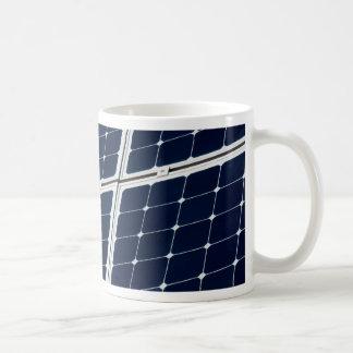 Solar power panel basic white mug