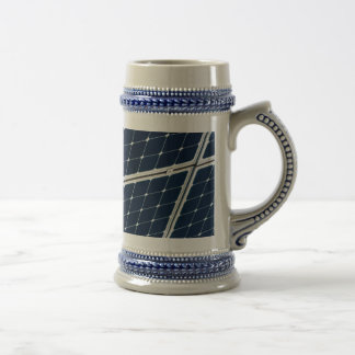 Solar power panel beer steins