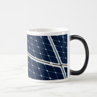 Solar power panel morphing mug