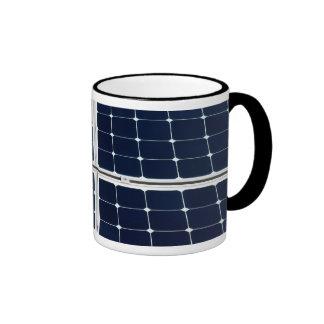Solar power panel ringer coffee mug
