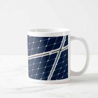 Solar power panel classic white coffee mug