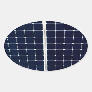 Solar power panel oval sticker