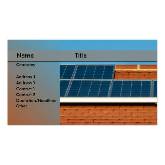 solar power / panel pack of standard business cards