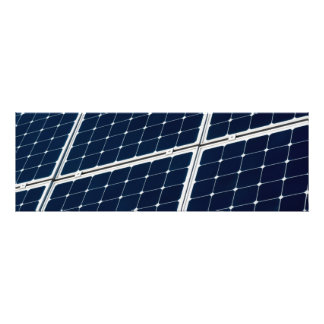 Solar power panel photo print