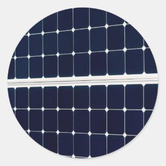 Solar power panel round sticker