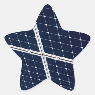 Solar power panel star sticker