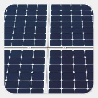 Solar power panel square sticker