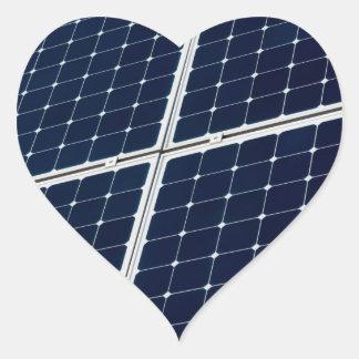 Solar power panel heart sticker