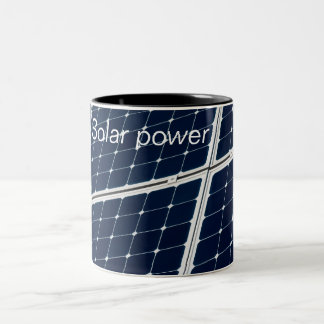 Solar power panel Two-Tone coffee mug