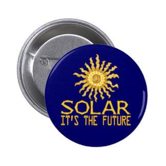 Solar Power Sun 6 Cm Round Badge