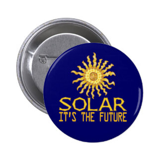 Solar Power Sun 6 Cm Round Badge
