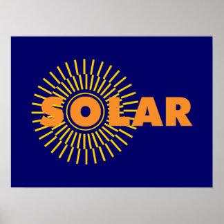 Solar Power Sun Posters
