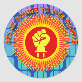 Solar Power to the People Round Sticker