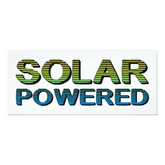 solar powered 10 cm x 24 cm invitation card