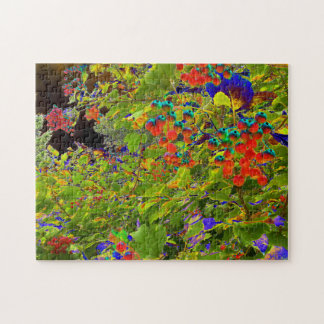 Solar Red Berries Relaxing Calming Jigsaw Puzzle