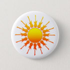 Solar Rock, Sun With Guitar Rays With Shading 6 Cm Round Badge