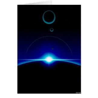 Solar Scene Greeting Card