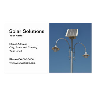 Solar Solutions Business Card Business Card Template