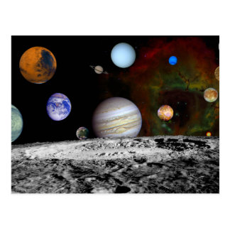 Solar Space System Planets Postcard