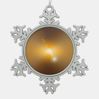 Solar Storm Pewter Snowflake Decoration