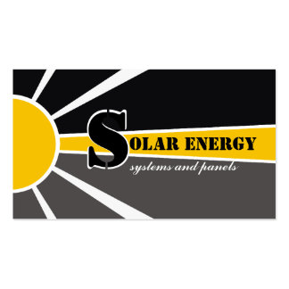 Solar/sun Energy/Power alternative sources Pack Of Standard Business Cards
