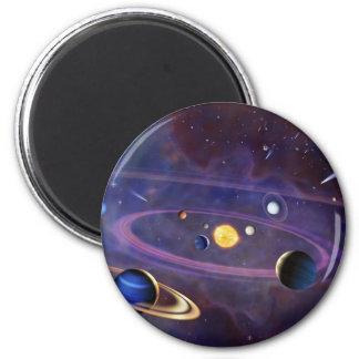 Solar System 6 Cm Round Magnet