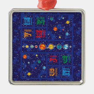Solar System ABCs Christmas Ornament