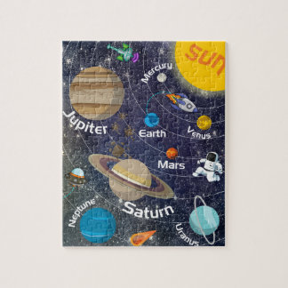 Solar System, Astronaut and Spaceship Puzzles