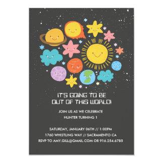 Solar System Birthday Invitaiton Card