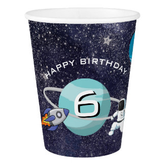 Solar System Birthday Party Paper Cup